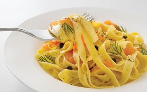 resep fettuccine cheese salmon