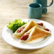 resep roti ragout keju panggang