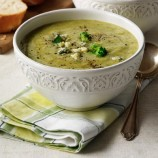 Leek Broccoli and Stilton Soup